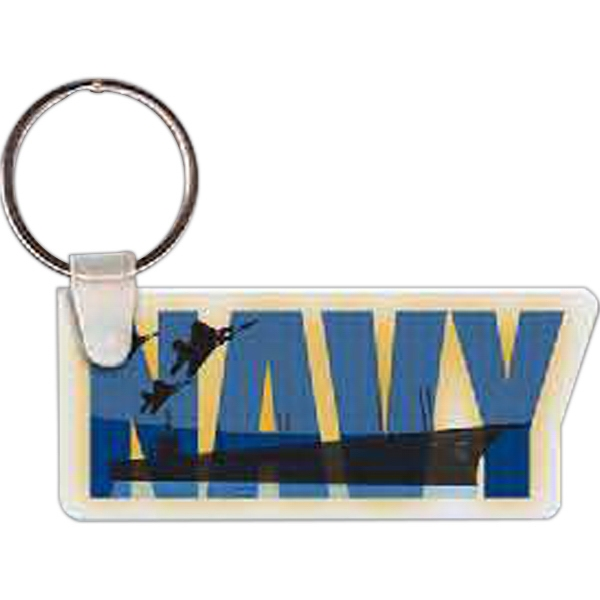 Custom Navy Logo Key Tag