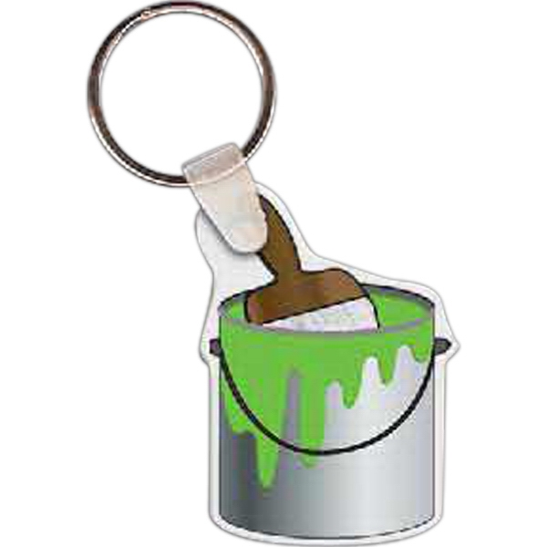 Printed Paint Can w/ Brush Key tag