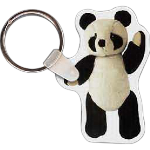 Printed Panda Bear Key Tag