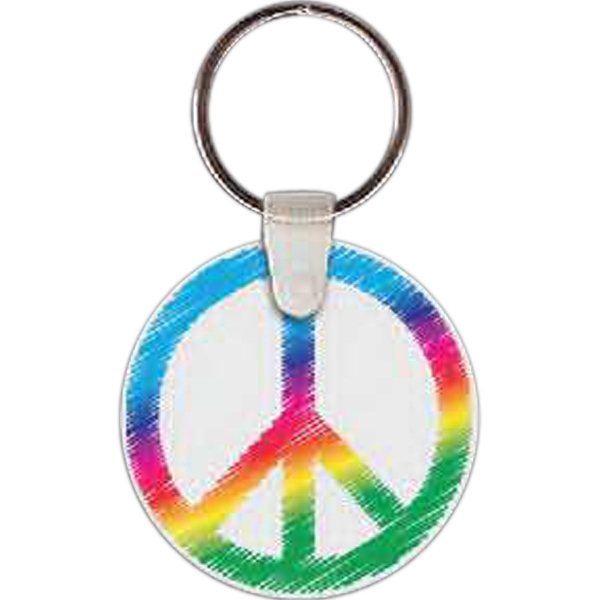 Printed Peace Sign Key tag