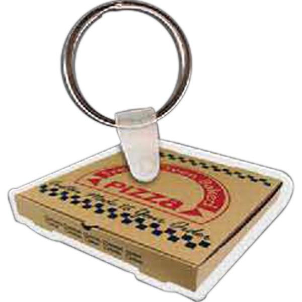 Customized Pizza Box Key Tag