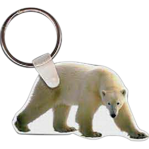 Imprinted Polar Bear Key Tag