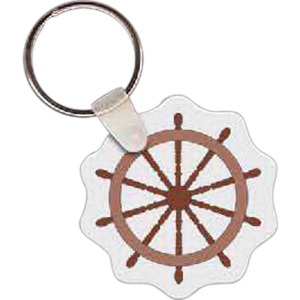 Printed Ship's Wheel Key tag