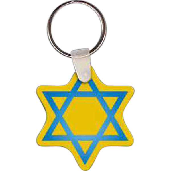 Printed Star of David Key tag