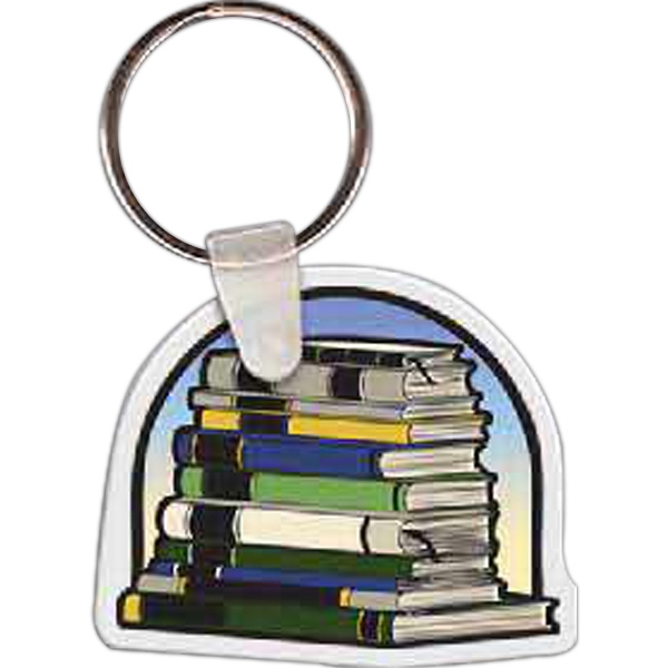 Promotional Stack of Books Key Tag
