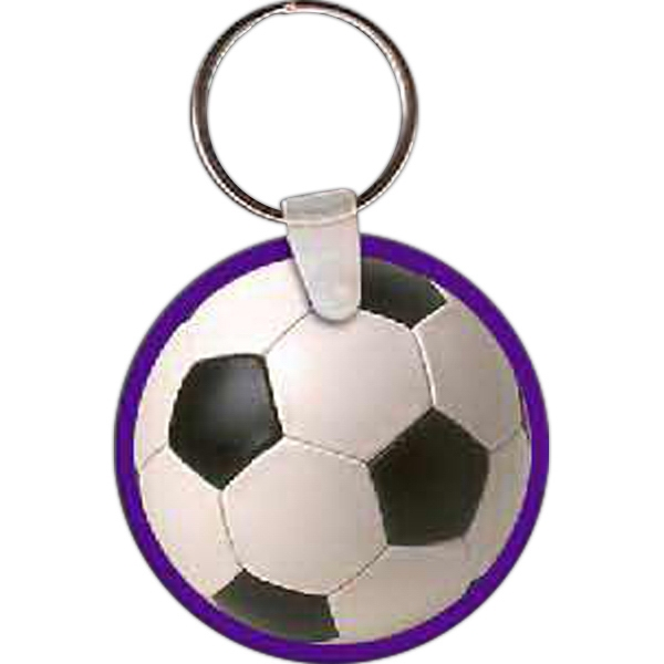 Personalized Soccer Ball Key Tag