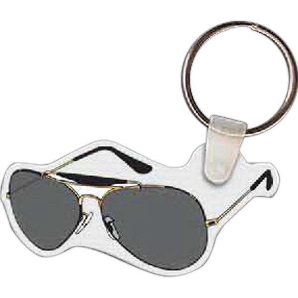 Imprinted Sunglasses Key Tag