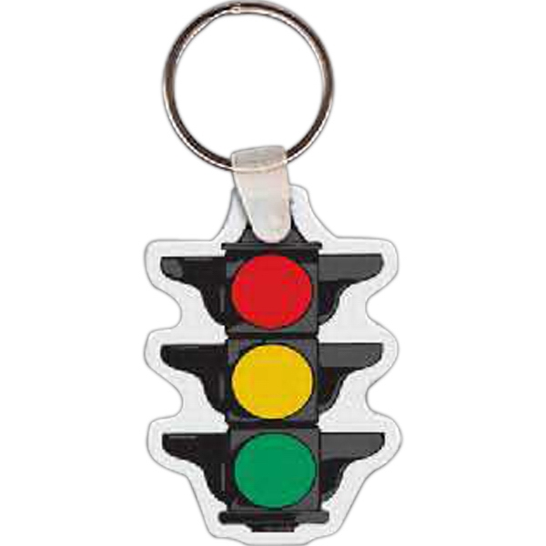 Imprinted Stop Light Key Tag