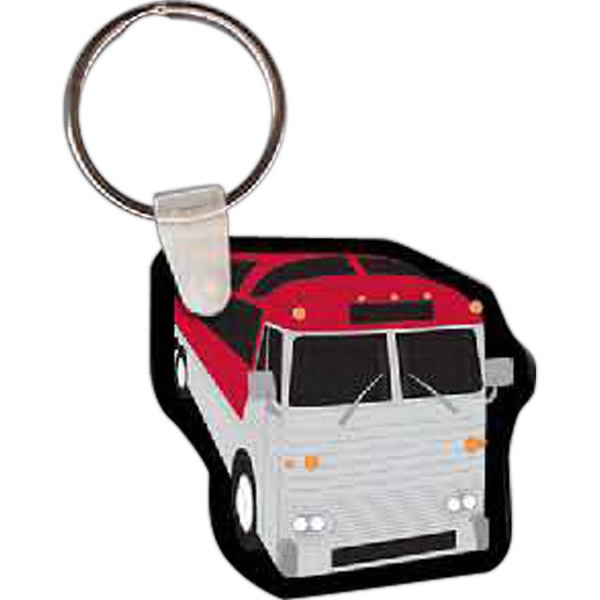 Customized Tour Bus Key Tag