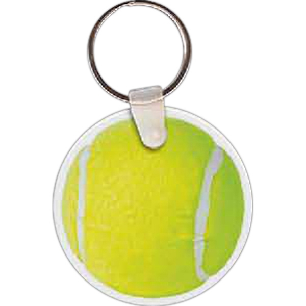 Printed Tennis Ball Key Tag