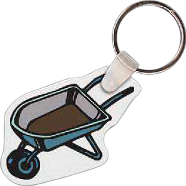 Printed Wheel Barrel Key tag