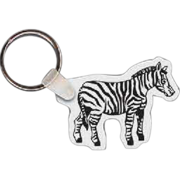 Custom Zebra Key Tag