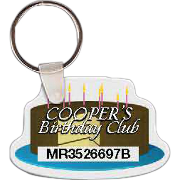 Customized Birthday Cake Key Tag
