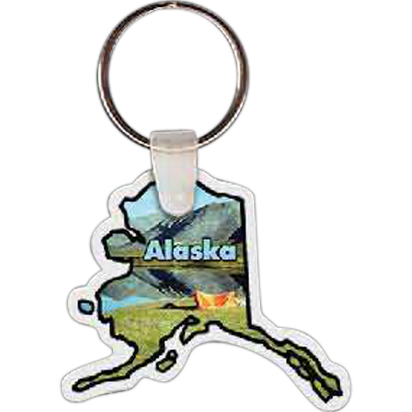Printed Alaska Key tag