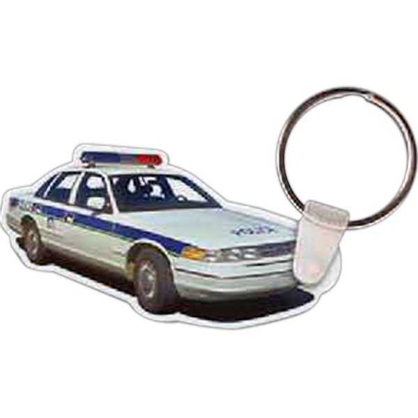 Printed Police Car Key Tag