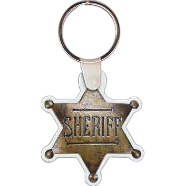 Promotional Sheriff's Badge Key Tag