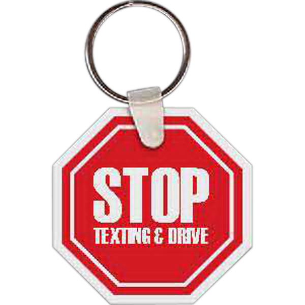 Promotional Stop Sign Key tag