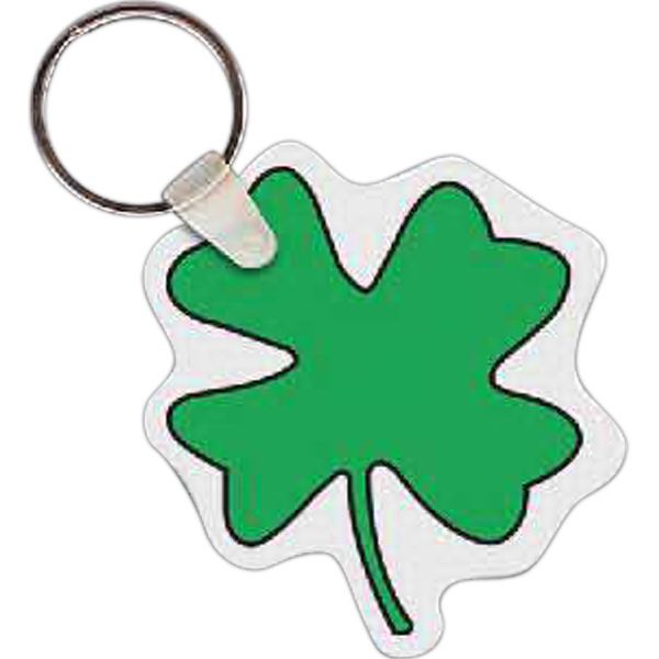 Printed Four Leaf Clover Key Tag