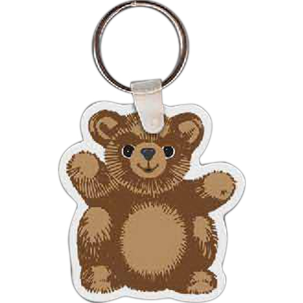 Imprinted Teddy Bear Key Tag