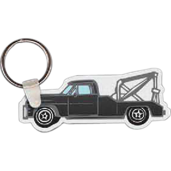 Printed Tow Truck Key Tag