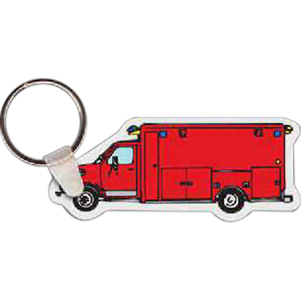 Printed Fire Ambulance Key Tag