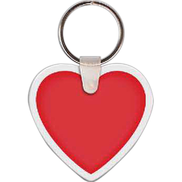 Custom Heart 1 Key Tag