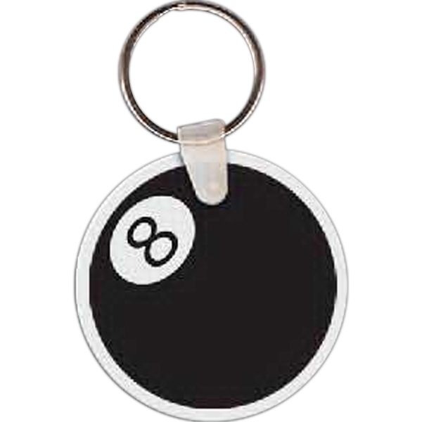 Personalized 8 Ball Key Tag