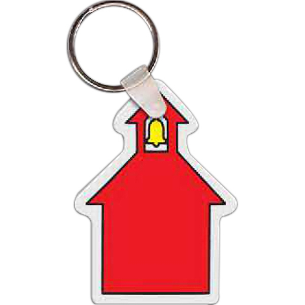 Imprinted School House Key Tag