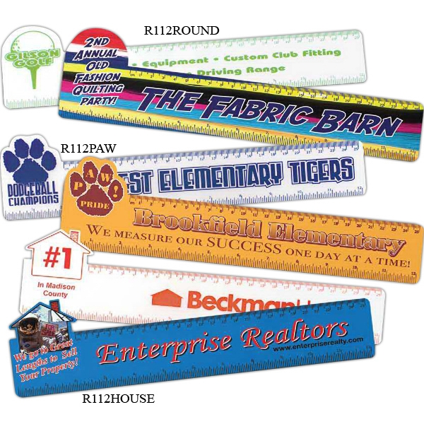 "Promotional Paw 12"" Ruler"