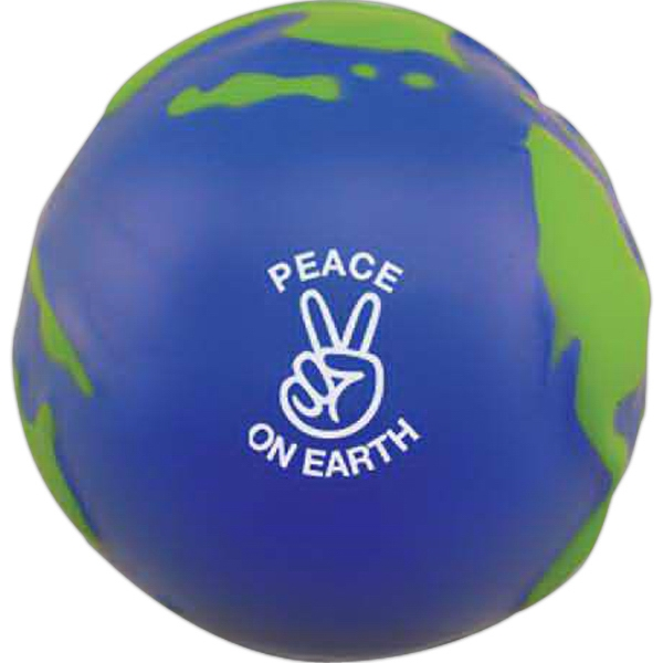 Imprinted Globe Stress Ball