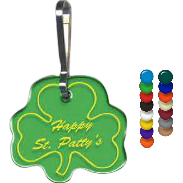 Customized Shamrock Zippy Clip
