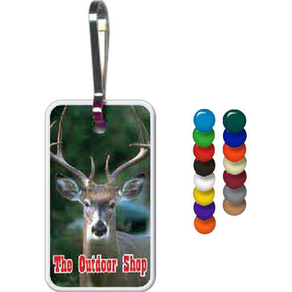 Personalized Rectangle Zippy Clip