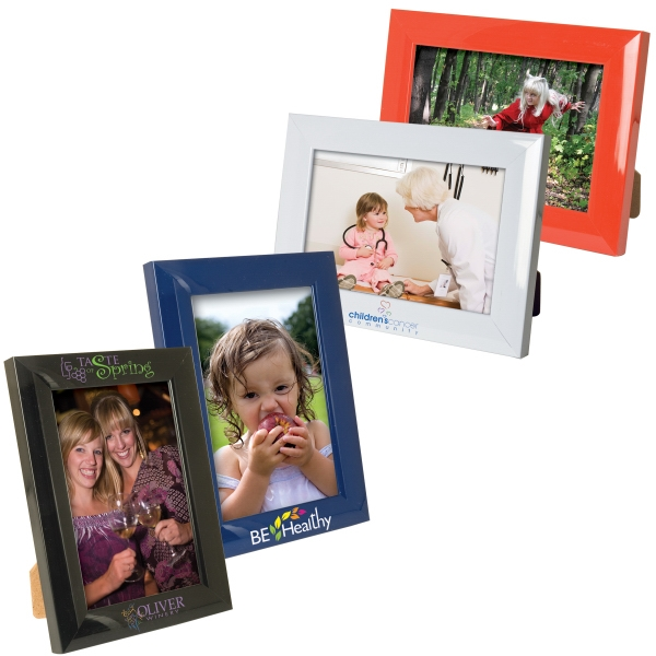 Personalized 4 x 6 Plastic Color Burst Frame