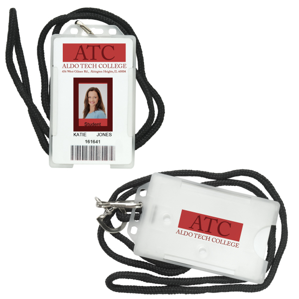 Custom ID Holder with Lanyard