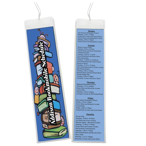 Personalized 2 x 8 Open Sleeve Bookmark