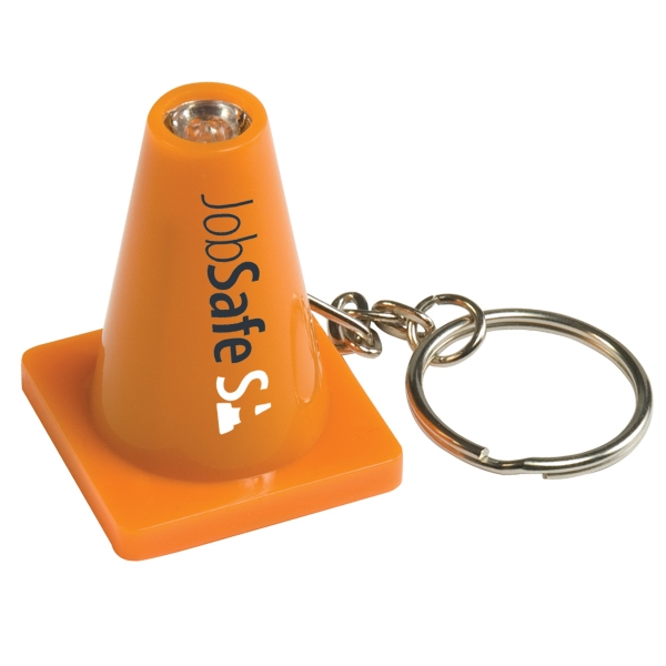 Personalized Light Up Safety Cone Keytag