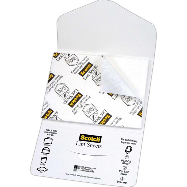 Imprinted Lint Sheets Pocket Pack