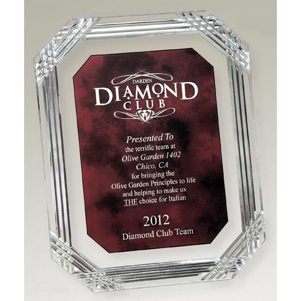 Customized Diamond Carved Octagon Plaque