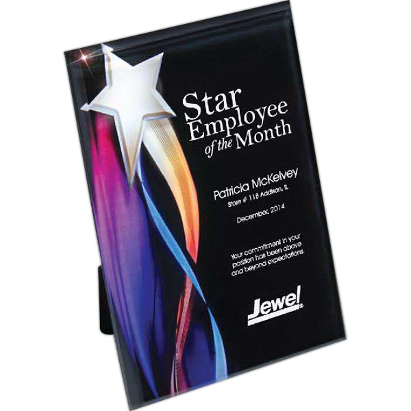 Personalized Streaming Star Lucite Plaque with Hanger/Easel