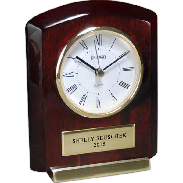 Promotional Rosewood Piano Wood Clock Award