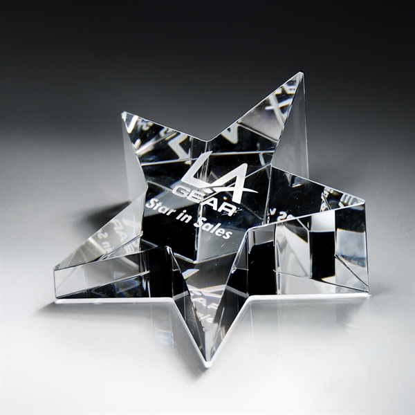 Promotional Optic Crystal Star Paperweight