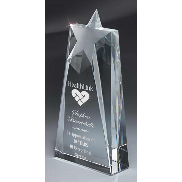 Printed Optic Crystal Tapered Star Tower