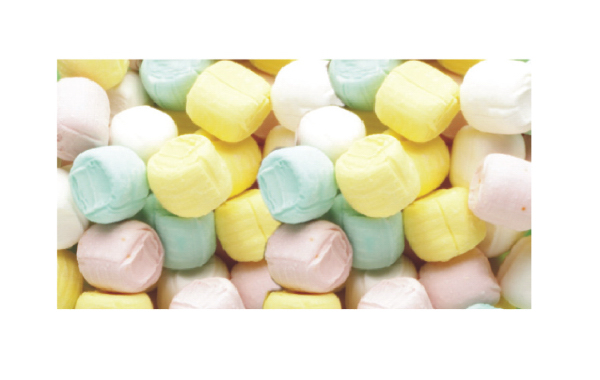 Imprinted Pastel Buttermints Soft Candy