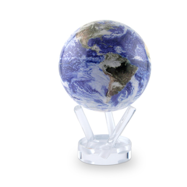 Custom 4.5 Inch Mova Globe Satellite View with cloud