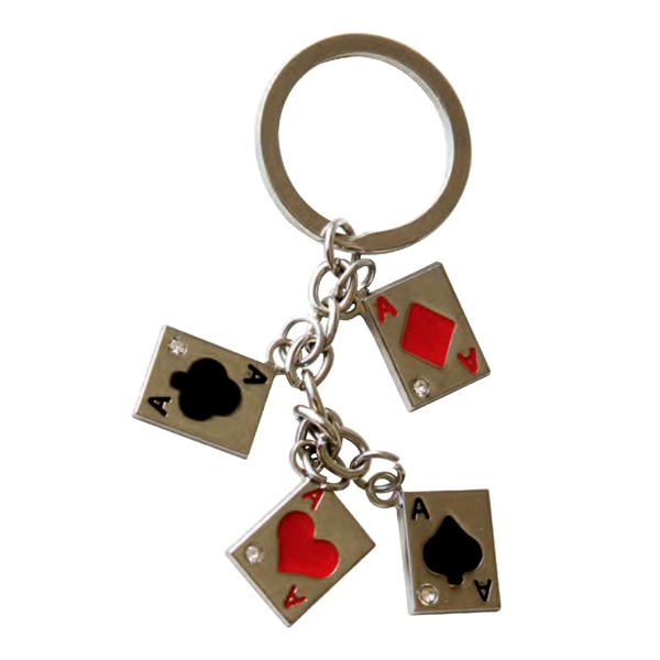 Personalized Four Aces Key Chain