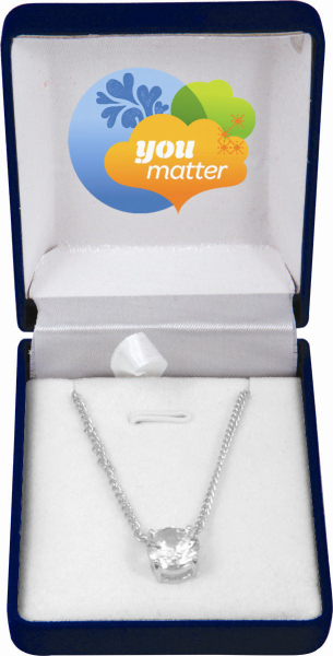 Promotional 5.5 Carat Genuine Cubic Zirconia Pendant and Necklace