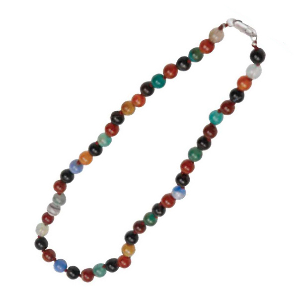 Personalized Multi Color Flower Agate Necklace