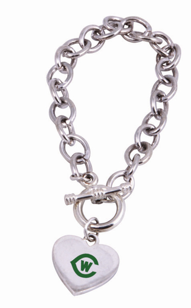 Personalized Toggle Heart Bracelet