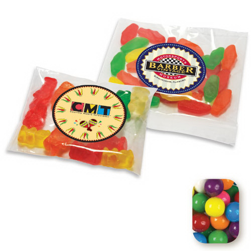 Printed Assorted Gumballs in a Handful Bag