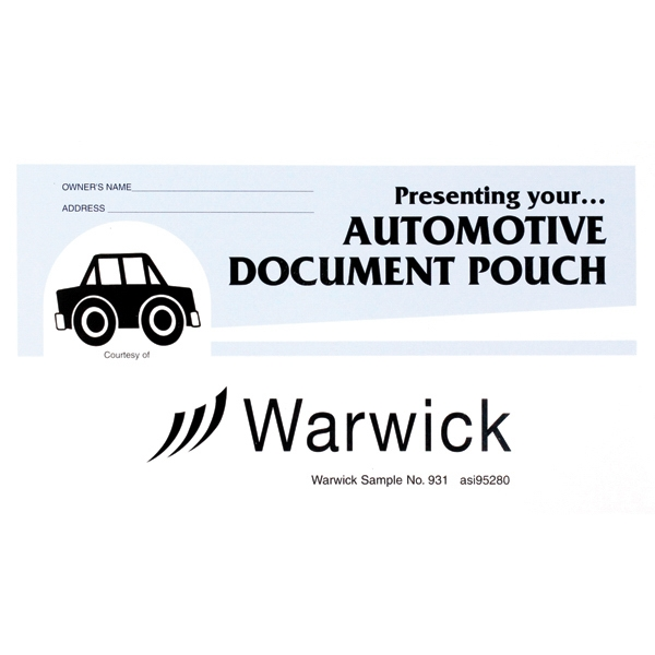 Printed Stock Auto Document Pouches